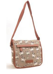 Pug print canvas bag