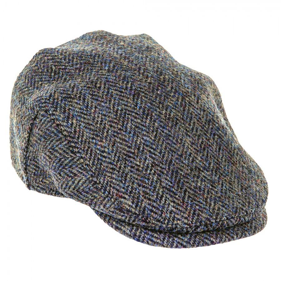 Harris Tweed Herringbone Flat Cap  4e09f026c2a9