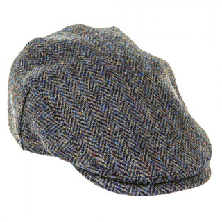 Harris Tweed Flat Cap - Dark Green