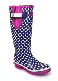 Polka dot wellington boots