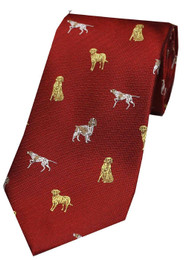 Dogs Themed Silk Tie