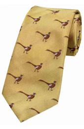 Standing Pheasant Silk TIe