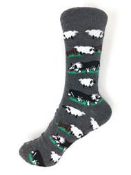 Novelty Socks Sheep Dog Design