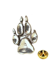 Dog Paw Pewter Pins