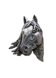 Horse's Head Pewter Pin
