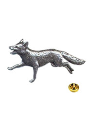 Running Fox Pewter Pin