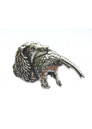 Spaniel with Pheasant Pewter Pin
