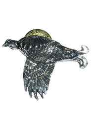 Black Grouse Pewter Pin