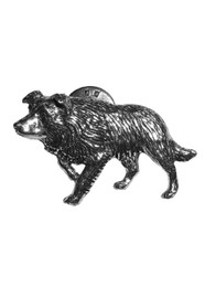 Border Collie Pewter Pin