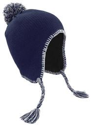 Peru Tassel Hat - Navy