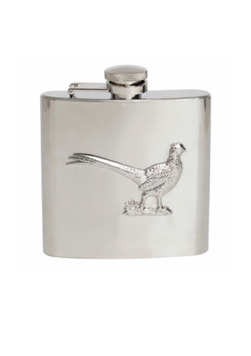 Pheasant Embossed Hip Flask