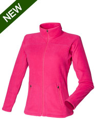 Womens Fleece Jacket in Fuschia