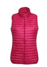 Fineline Padded Gilet - Hot Pink