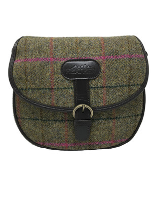 Heather Elise Tweed Saddle Bag