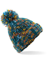 Retro Twist Pom Pom Beanie Hat