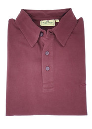 Hoggs of Fife Crail Short Sleeve Polo Shirt - Rum