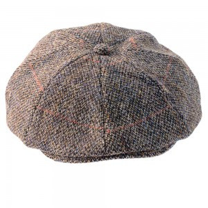 40a9e23a5d40d Arran 8 Piece Harris Tweed Baker Boy Cap