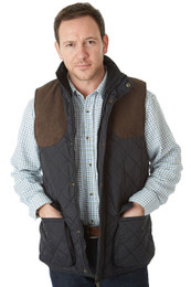 Sherwood Forest Preston Quilted Waistcoat - Black