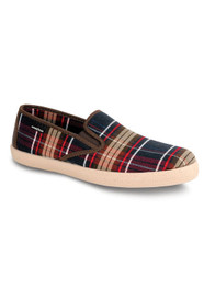 Goodyear Slipper Blue Tartan