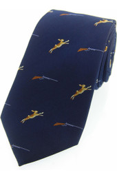 Hare and Shotgun Silk Tie