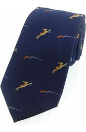 Hare and Shotgun Silk Tie