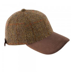 Harris Tweed Baseball Caps - Gold