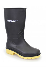 Adults Dunlop Pricemastor Wellington Boot Black