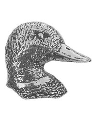 Duck's Head Pewter Pin