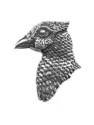 Pheasant's Head Pewter Pin