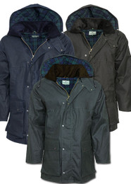 Hoggs of Fife Padded Waxed Jackets Three Colours