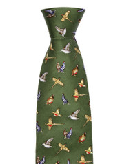 Hoggs of Fife Silk Tie Green