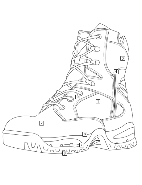 Tru Spec Tac Assault 9 Inch Tactical Side Zip Boots With Insole That