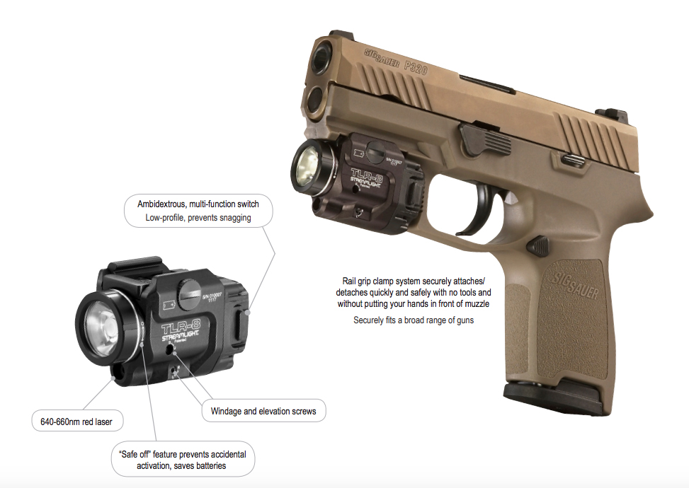 Streamlight Tlr 8 With Red Laser Rail Locating Keys And