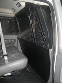Havis Chevy GMC Van with Slide Out Door Front Partition Cage P-FRONT-2 With Emergency Exit Hatch