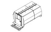 """Havis Chevy Express G-Series Van 10 Prisoner Transport 100"""" Insert Kit 2007-2019"""