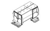 "Havis Chevy Express G-Series Van 10 Prisoner Transport 3 Compartment 100"" Insert Kit 2007-2019"