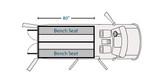 "Havis Dodge Ram ProMaster Van 8 Prisoner Transport 2 Compartment 80"" Insert Kit 2007-2019"