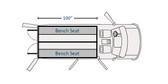 "Havis Dodge Ram ProMaster Van 10 Prisoner Transport 2 Compartment 100"" Insert Kit 2014-2019"