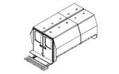 "Havis Chevy Express G-Series Van 10 Prisoner Transport 2 Compartment 100"" Insert Kit 2007-2019"