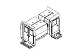 "Havis Dodge Ram ProMaster Van 10 Prisoner Transport 3 Compartment 100"" Insert Kit 2014-2019"