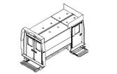 "Havis Dodge Ram ProMaster Van 10 Prisoner Transport 3 Compartment 120"" Insert Kit 2014-2019"