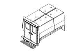 "Havis Ford Transit Van 10 Prisoner Transport 100"" 2 Compartment Insert Kit 2015-2019"