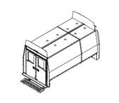 "Havis Dodge / Freightliner / Mercedes Sprinter Van 12 Prisoner Transport 120"" 2 Compartment Insert Kit 2007-2015"