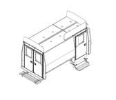 "Havis Dodge / Freightliner / Mercedes Sprinter Van 12 Prisoner Transport 120"" 3 Compartment Insert Kit 2007-2015"
