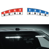 Federal Signal Ford SUV Police Interceptor Utility 2013+ Interior Light Bar Spectralux ILS Dual Color Low Profile, In Stock