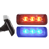 Federal Signal Side-View Mirror Mount MicroPulse Ultra 3 LED Light Head, Pair, Universal