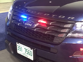Whelen Micron LED Stud Mount Light Head MCRNT, fits perfect in the Ford Police Interceptor Utility SUV (Explorer) Grille