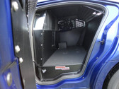 American Aluminum Ford Interceptor Sedan EZ Rider K9 Police Car Dog Kennel Transport Insert System and Cargo Containment Unit, Black or Aluminum Finish, 2013-2019