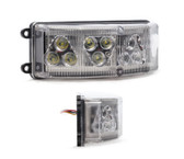 Emergency Vehicle 12-LED Half-Octo 180 degree Flush Surface Mount Light Head by STL, TIR Style LEDs, 5 year warranty
