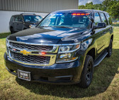 New 2018 Black Tahoe PPV Slick-Top Admin Ready for the Road Turnkey Police Package pre-built with Red-Blue LED Lighting and Equipment,  2WD 5.3 Liter V8 , Plus Delivery